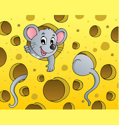 Mouse theme image 1 vector