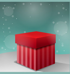 new christmas gift background vector image