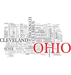 ohio word cloud concept vector image