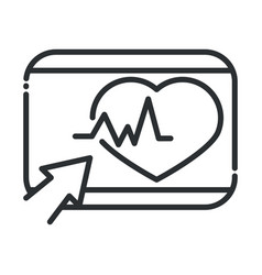 online health website clicking heartbeat covid19 1 vector image