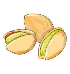 Pistachios icon cartoon style vector