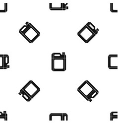 Plastic jerry can pattern seamless black vector