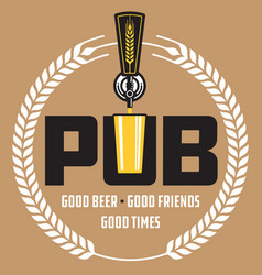 Pub craft beer design vector