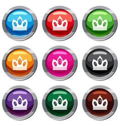 Queen crown set 9 collection vector