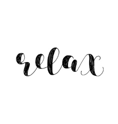 Relax Brush lettering vector image