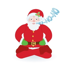 Santa Claus sitting as yogi vector image