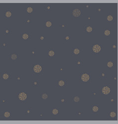 seamless pattern with golden shiny balls vector image