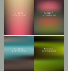 Set blurred backgrounds vector