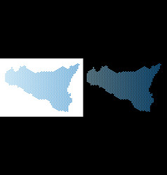 Sicilia map hex tile abstraction vector