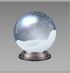 snow ball realistic christmas snowglobe on vector image