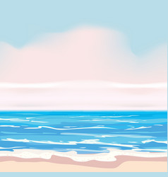 summer tropical background template shore waves vector image