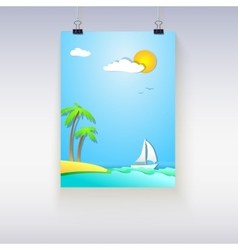 Summer vacation poster vector image