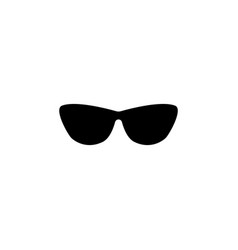 sunglasses icon black on white vector image