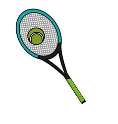 tennis racket design vector image