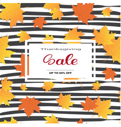 thanksgiving day sale autumn traditional holiday vector image