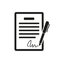 The contract icon Agreement and signature pact vector