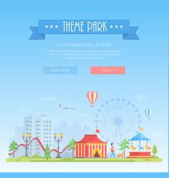 Theme park - modern flat design style vector