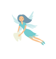 Tooth fairy isolated on white vector