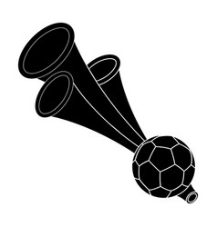Trumpet football fanfans single icon in black vector