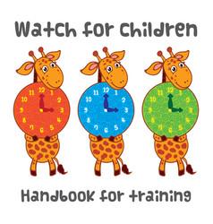 Watch for children with a giraffe handbook for vector