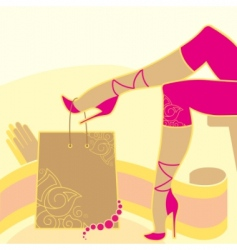 Woman legs and accessories vector