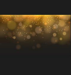 yellow blurred lights bokeh texture vector image