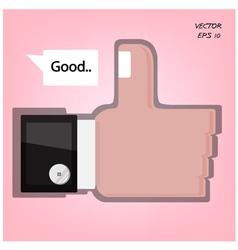 Like us hand sign vector