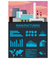manufacturing and industrial infographics elements vector image