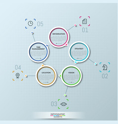 modern infographic design layout vector image vector image