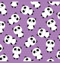 bears panda pattern background vector image