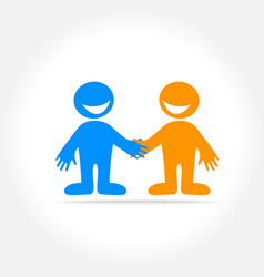 friend template logo vector image