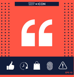 quote icon vector image vector image