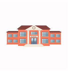 school building exterior isolated on white vector image vector image