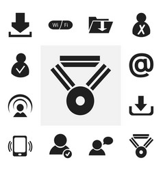 set of 12 editable global icons includes symbols vector image