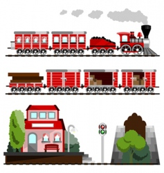 train great set vector image vector image
