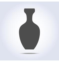 Vase icon in gray colors vector image