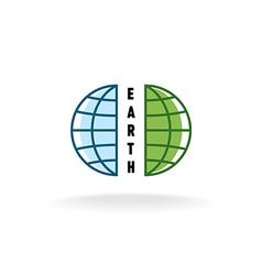 Earth globe logo vector image vector image