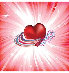 heart love card vector image