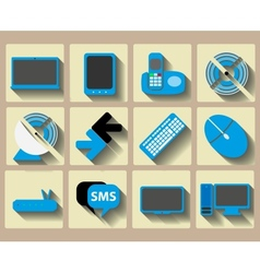 Icons home tech and wireless set vector image