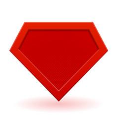red superhero logo template vector image