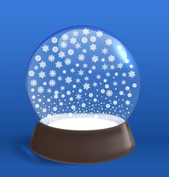 Winter snowfall ia winter ball vector image vector image