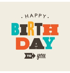 birthday card letterpress vector image vector image