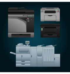 Color printer vector image vector image