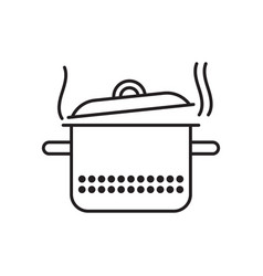 saucepan with steam vector image vector image