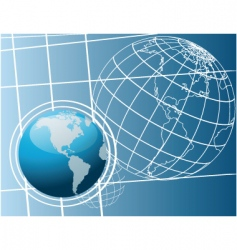 world drawing vector image vector image