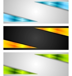 Abstract bright tech banners vector