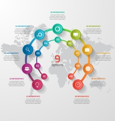 abstract circle infographic 09 options vector image