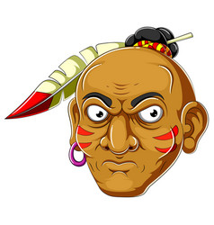 Apache head cartoon vector