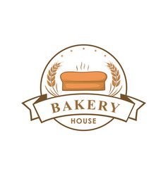 Bakery shop logo sign template emblem vector