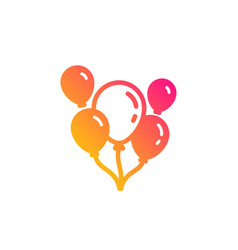 Balloons icon amusement park or party sign vector